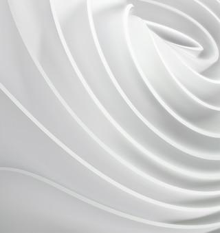 Abstrait avec des formes de tissu roulé.