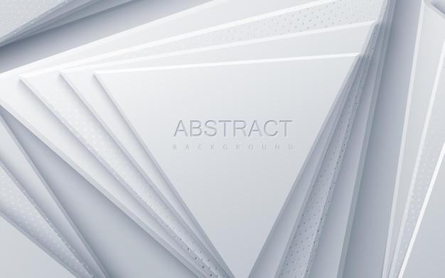 Abstrait avec des formes de triangle blanc