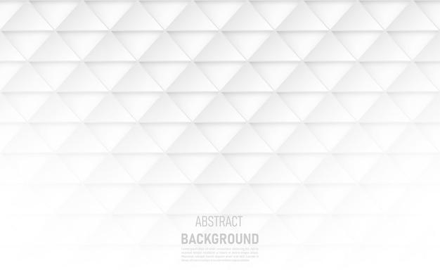 Abstrait de formes triangulaires blanches.