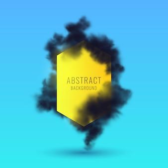 Abstrait avec fumée noire