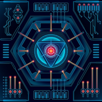 Abstrait futur concept technologie