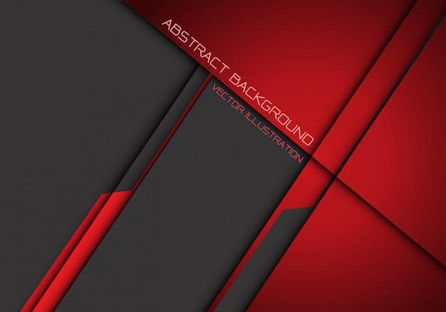 Abstrait futuriste de chevauchement métallisé gris rouge foncé