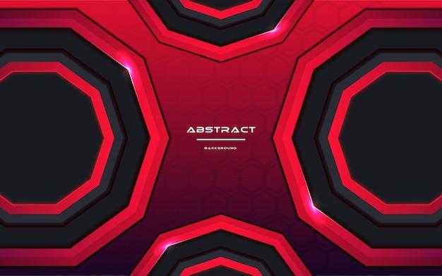 Abstrait futuriste avec la couleur au néon