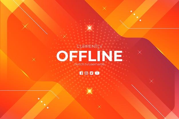 Abstrait futuriste de jeu en ligne hors ligne