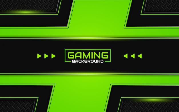 Abstrait futuriste de jeu noir et vert