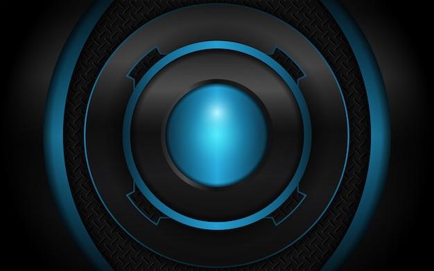 Abstrait futuriste noir et bleu