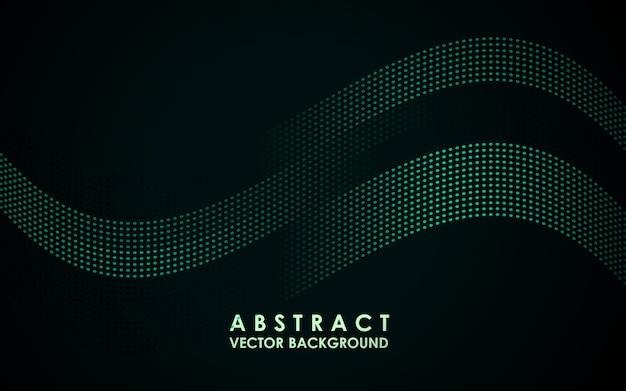 Abstrait futuriste avec des particules ondulées