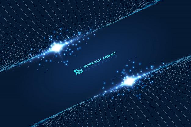 Abstrait futuriste de particules technologie conception modèle oeuvre fond.
