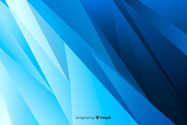 Abstrait gauche bleu formes obliques