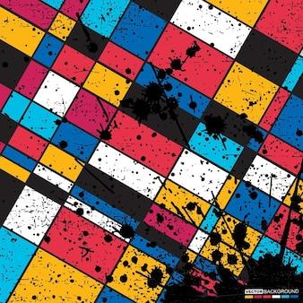 Abstrait géométrique art grunge