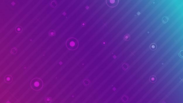 Abstrait géométrique de base sur fond coloré de néon