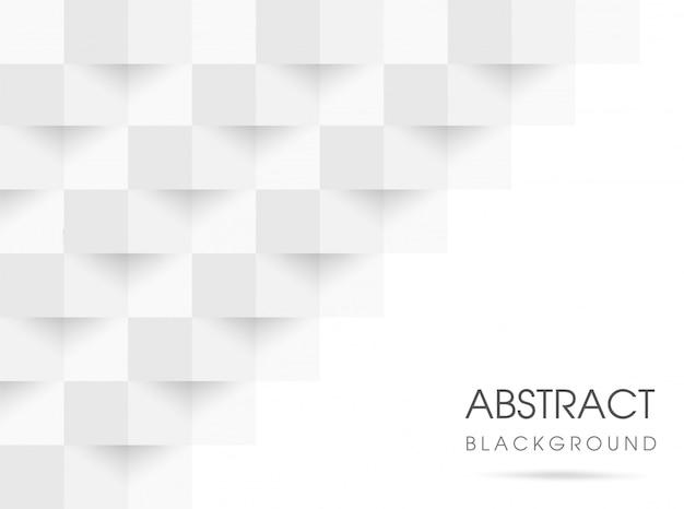 Abstrait géométrique blanc et gris 3d. illustration vectorielle eps10.