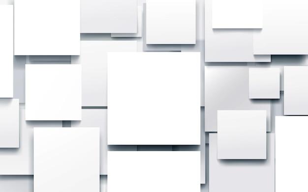 Abstrait géométrique blanc avec technologie hi-tech futuriste fond numérique.