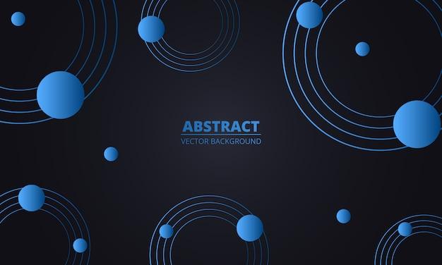 Abstrait géométrique bleu. cercles bleus