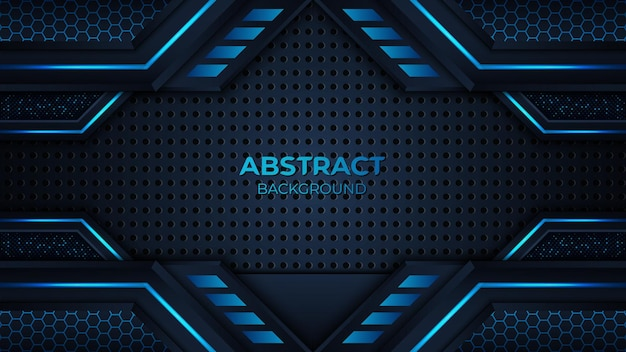 Abstrait géométrique bleu premium