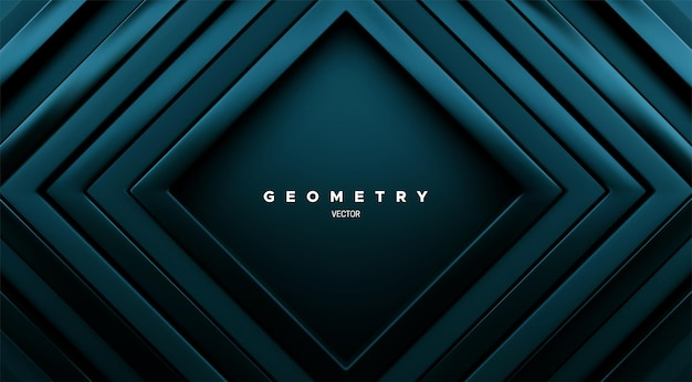 Abstrait géométrique avec des cadres carrés concentriques vert marée