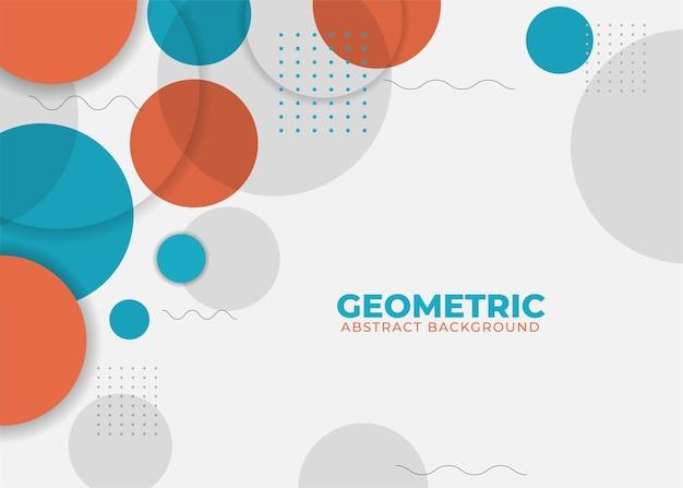 Abstrait géométrique coloré avec forme de cercle