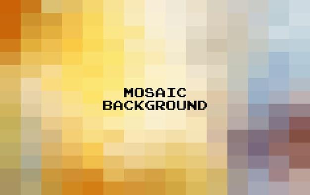 Abstrait géométrique coloré, mosaïque de grille pixel art, fond de 8 bits.