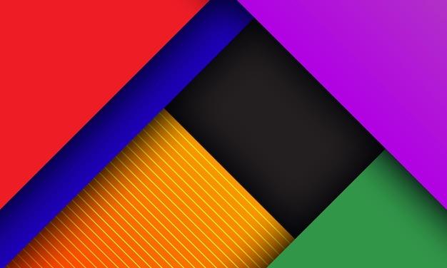 Abstrait géométrique coloré avec ombre profonde et texture