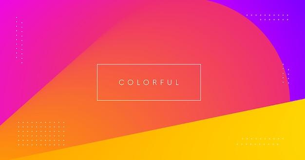 Abstrait géométrique coloré. toile de fond moderne de couleurs vives minimales.
