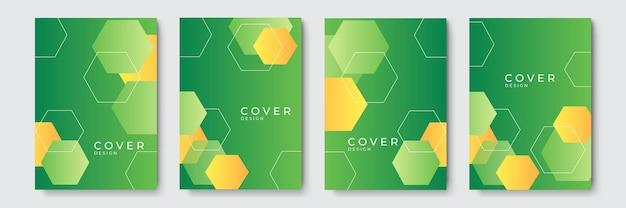 Abstrait géométrique coloré vert jaune. ensemble de forme d'onde incurvée organique abstraite sur fond de couleurs sombres pour brochure, flyer, affiche, dépliant, rapport annuel, couverture de livre.