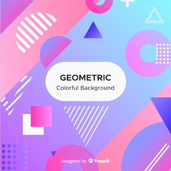 Abstrait géométrique coloré