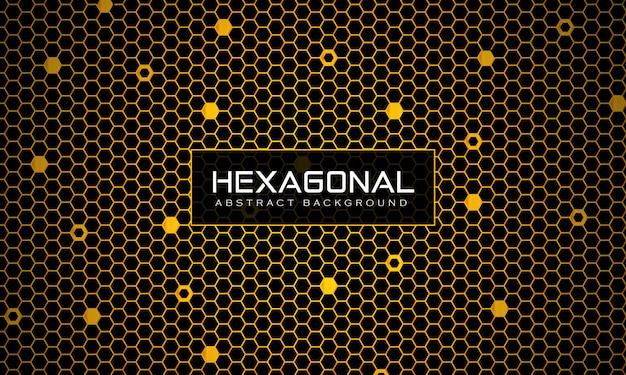 Abstrait géométrique connecté motif hexagonal sans soudure