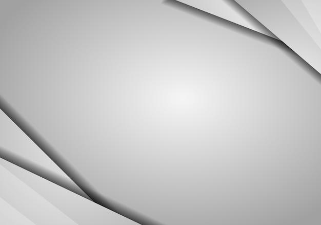 Abstrait géométrique de couleur blanche et grise.