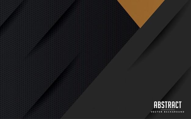 Abstrait géométrique couleur noir et or