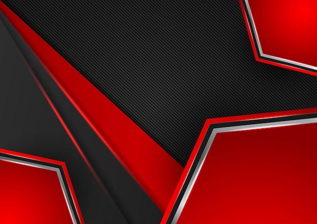 Abstrait géométrique de couleur rouge et noir