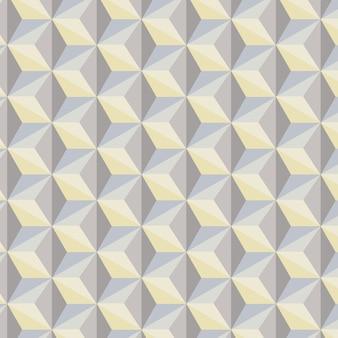 Abstrait géométrique dans les tons gris, bleus et jaunes