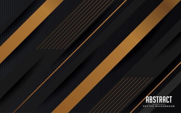 Abstrait géométrique design moderne de couleur noir et gris