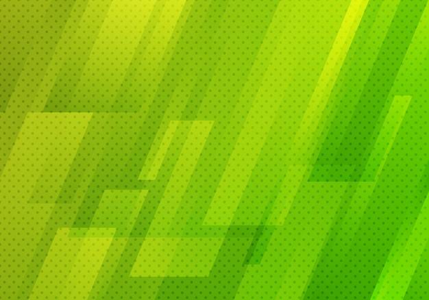 Abstrait géométrique diagonale verte