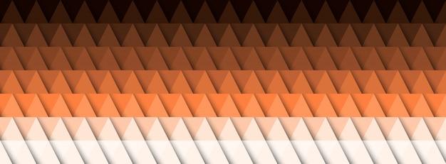Abstrait géométrique, effet 3d, couleurs chaudes