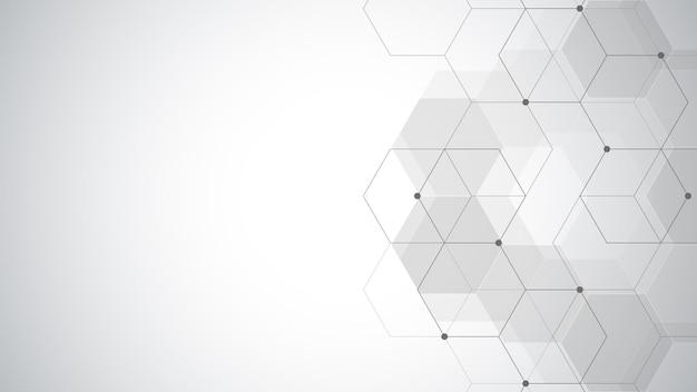 Abstrait géométrique avec des éléments hexagonaux simples