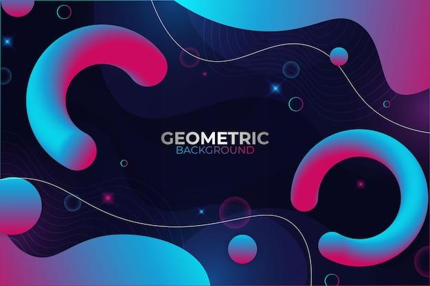 Abstrait géométrique fluide bleu et rose