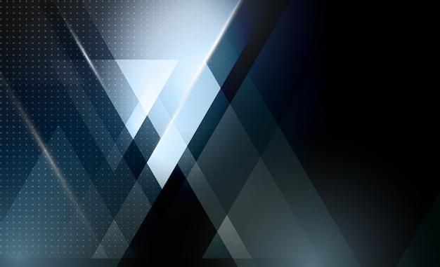 Abstrait géométrique avec forme de triangle