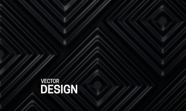 Abstrait géométrique avec des formes carrées noires