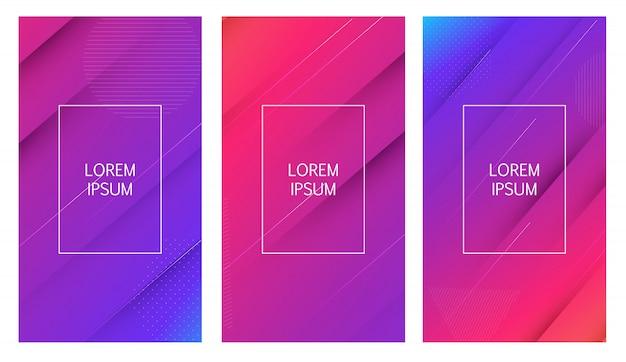 Abstrait géométrique de formes dégradé minimal.