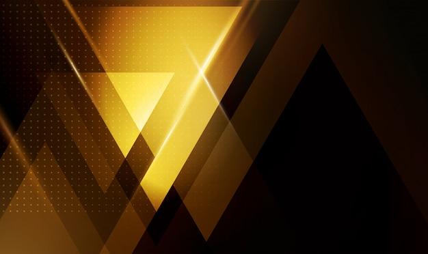 Abstrait géométrique avec des formes triangulaires