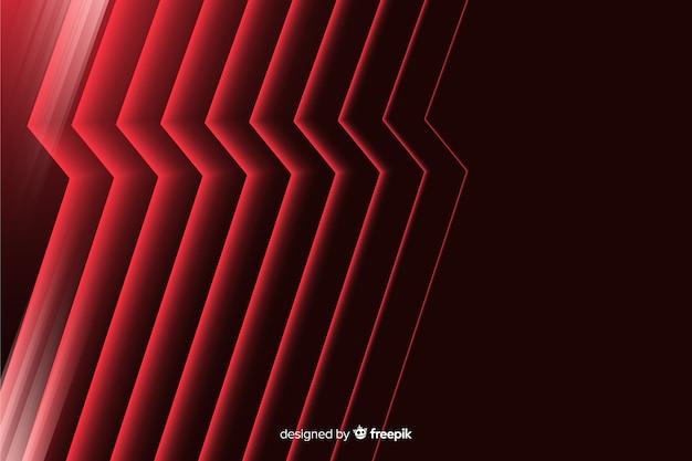 Abstrait géométrique foudre rouge