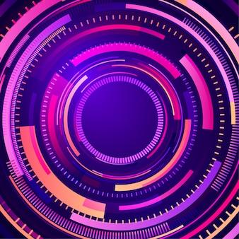 Abstrait géométrique. illustration futuriste. motif moderne avec des lignes radiales. formes dynamiques.