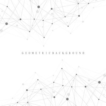 Abstrait géométrique avec ligne connectée et points. arrière-plan graphique pour votre conception. illustration vectorielle.
