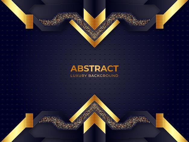 Abstrait géométrique de luxe premium noir et or