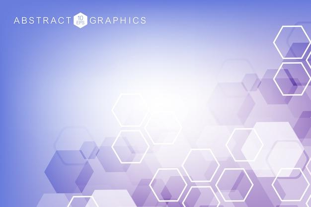 Abstrait géométrique. médical, technologie, formation scientifique.