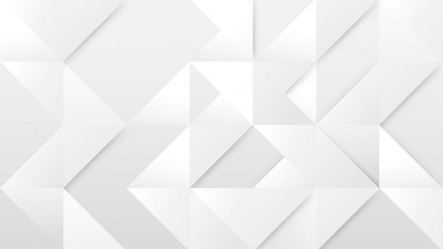 Abstrait géométrique moderne blanc et gris