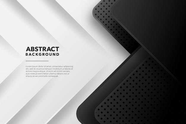 Abstrait géométrique moderne fond blanc noir