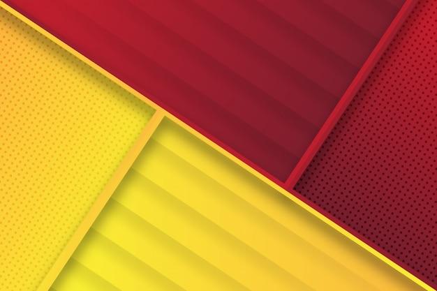 Abstrait géométrique moderne rouge jaune