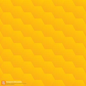 Abstrait géométrique motif hexagonal, couleur jaune