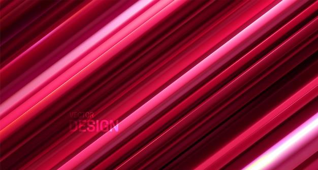 Abstrait géométrique avec motif rayé rouge